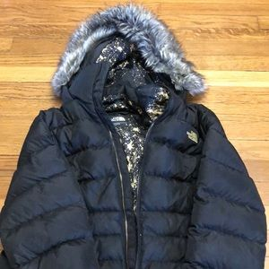 North Face Women's Puffer Jacket With Fur Hood